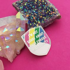 I'm Not Sorry About Your Fragile Masculinity Enamel Lapel Pin Badge - Feminist Badge Pastel Colors, Colours, Im Sorry, Pin Badges, Lapel Pins, Enamel, Feminist Apparel, How To Make, Rainbow Pastel