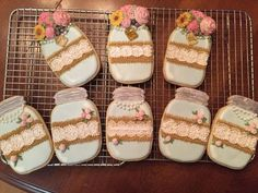 Mason Jar Birthday Cookies Inspired by SweetAmbs