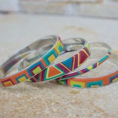 2 #tutorials to show how to add colorful polymer clay to channel bracelet blanks! #jewelry
