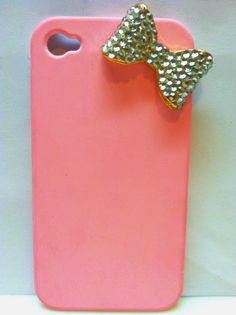 Pink iPhone 4 case w/ bow. $9.99, via Etsy.