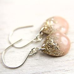 Hey, I found this really awesome Etsy listing at https://www.etsy.com/listing/166789409/peach-earrings-with-gold-and-silver