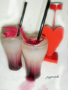 PrzepisoTeka: Love drink Panna Cotta, Love, Drinks, Ethnic Recipes, Smoothie, Juices, Recipes, Amor, Drinking