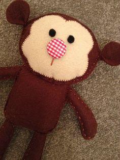 Felt monkey :)  and might I say vik it looks good