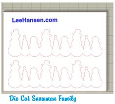 Snowman Family  Scribd  GraphicsPattern Christmas