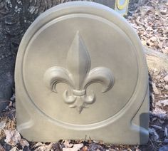 Fleur De Lis Standing Stone Concrete mold this mold will make a decorative design that will lend itself to your creative designs ad you own lettering such as welcome or you family name great for and entry way. Stepping Stone Molds, Concrete Molds, Creative Design, Lettering, Grey, Decor, Gray, Decoration, Drawing Letters