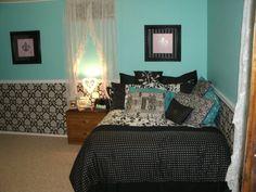 My Room Tiffany Blue and Black