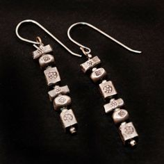 earrings of Karen silver nuggets