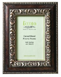 Eccolo World Traveler Fashion Antiqued Wood Frame, Artistico, Holds a 4 x 6-Inch Photo Eccolo,http://www.amazon.com/dp/B007HJL5B0/ref=cm_sw_r_pi_dp_cs-utb0PMSYE41GQ