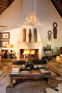 Lounge at River Lodge, Sabi Sand Lodge