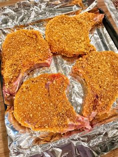 The Best Pork Chops Ever - tolle Rezepte - Fleisch Meat Recipes, Baking Recipes, Baking Hacks, Shrimp Recipes, Paleo Recipes, Chicken Recipes, Snacks Für Party, Fries In The Oven, Gastronomia