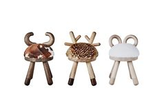 Bambi Sheep and Cow chairs - Tables et chaises pour enfants - EO - Bois Bambi, Living Room Chairs, Dining Chairs, Dining Room, Lounge Chairs, American Walnut, Grey Chair, Chairs For Sale, Modern Chairs