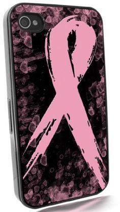 Breast Cancer Awareness Black IPhone 4 & 4S Case from Redeye Laserworks IPhone Cases by Redeye Laserworks, http://www.amazon.com/dp/B00869M6GI/ref=cm_sw_r_pi_dp_OqJbqb037ZK94