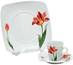 Flores na cozinha - Casa.com.br China Painting, Ceramic Painting, Fabric Painting, Glass Ceramic, Ceramic Plates, Cup Art, Square Plates, Pottery Designs, Dinnerware Sets