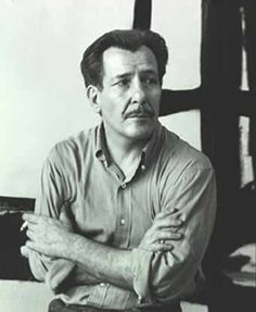 American Abstract Expressionist Painter Franz Kline. He has the look of Lon Chaney, Jr.