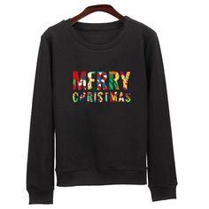 Ugly Christmas Print Long Sleeve Xmas Gift Sweatshirt Hoodie