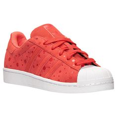 Women's adidas Superstar Casual Shoes - S77411 RED | Finish Line