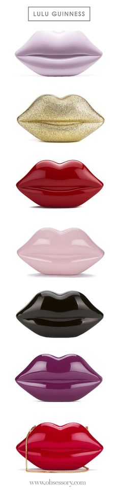 10f8370f593 Lulu Guinness Women s Large Perspex Lips Clutch Bag Red. Red Perspex Lips  clutch bag from
