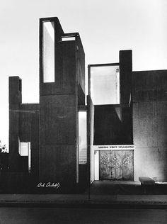 Christian Science Student Center, Paul Rudolph, Urbana, Illinois, 1966 (Demolished 1987) Photography by Bill Engdahl