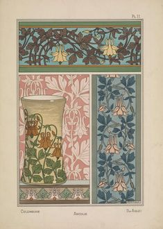 Maurice Pillard Verneuil Art Nouveau Illustrations - Page 4 - Fleurs Art Nouveau, Motifs Art Nouveau, Design Art Nouveau, Art Nouveau Flowers, Art Nouveau Pattern, Illustration Art Nouveau, Botanical Illustration, William Morris, Eugene Grasset