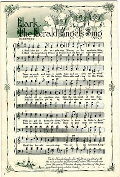 lots of Christmas sheet music for printing and crafts