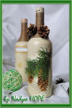 Купить Оформление бутылок - бутылка декоративная, бутылка декупаж, Бутылка шампанского, свадебное шампанское