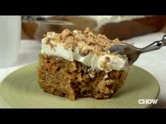 How to Make an Easy Carrot Cake with Cream Cheese Frosting - The Easiest Way - YouTube