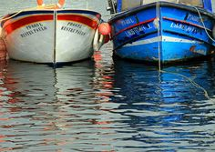 Boats and water reflections ... | Lagoa harbour, São Miguel Island, Azores
