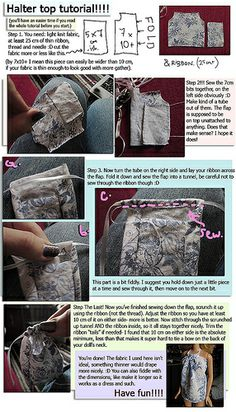 Halter top tutorial for Barbie or other 1/6th scale dolls.