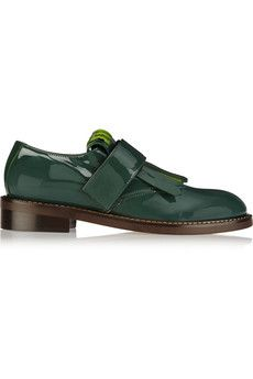 Marni Patent-leather brogues   THE OUTNET