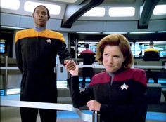 """I already have a man"" - one of my fav Janeway/Tuvok lines!!"