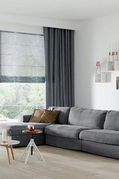 9 Discover Cool Tips: Wooden Blinds And Curtains grey blinds floors.Blinds And Curtains Burlap bedroom blinds and curtains.Wooden Blinds And Curtains. Living Room Blinds, Bedroom Blinds, House Blinds, Home Curtains, Curtains With Blinds, Black Curtains, Grey Blinds, Fabric Blinds, Window Blinds