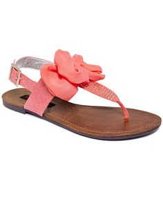 Material Girl Shoes, Solar Flat Thong Sandals - Shoe Trends - Shoes - Macys $45.00