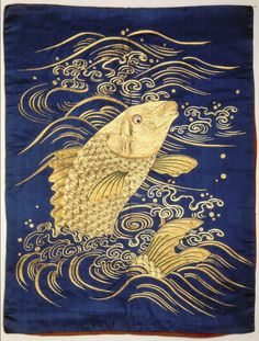 """antonioedsoncadengue: """" yorkeantiquetextiles: """" Embroidered gift cover (fukusa). Early 19th century, Japan. Gift of Eliza M. Niblack, IMA """" Please follow me: http://antonioedsoncadengue.tumblr.com/archive """""""