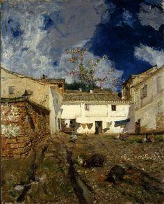 Patio de la Alhambra. Mariano Fortuny, 1873. Jules Breton, Spanish Artists, Spanish Painters, Granada, House Painting, Home Art, Mariana, Harvard Art Museum, Inspirational Artwork