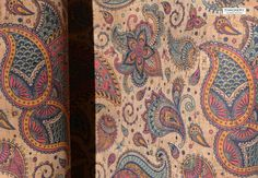 INDIAN PAISLEY Print cork fabric - best available - Made in Portugal - Choose Size, textile quality, USA Seller - New Arrivals - Cork Fabric - Tailoring & Sewing Cork Fabric, Paisley Print, Portugal, Bohemian Rug, Textiles, Indian, Sewing, How To Make, Color