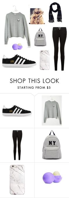 """""""Untitled #1"""" by fay00 ❤ liked on Polyvore featuring adidas Originals, Joshua's, Eos, Amicale, women's clothing, women's fashion, women, female, woman and misses"""