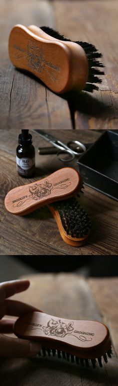 Introducing our limited edition handmade wooden beard brush. Brush features our signature octopus logo engraved. An iconic grooming accessory and the perfect gift for beard lovers! The soft natural bo