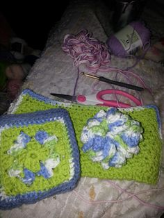 Dishcloths and scrubby made for granddaughter's teacher.