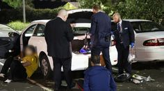 Detectives from Macquarie Fields search a car and make arrests in a drug bust last month. The damning findings are contained in the first real-time national snapshot of drug use obtained from sampling wastewater at 51 sewage treatment plants — servicing 14 million Australians — in city and regional areas across the country.