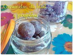 Caramelos caseros de miel y propóleo para el dolor de garganta
