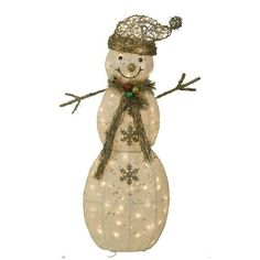 Outdoor Snowman Lights Trim a home 50 lighted snowman outdoor christmas decoration at holiday living 42 in glittered sisal snowman outdoor christmas decoration with incandescent white lights workwithnaturefo