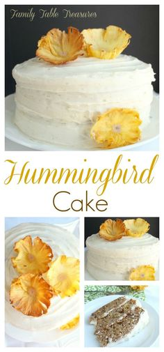 A Stunning Hummingbird Cake Accented With Walnuts And