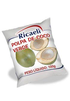 A Polpa de Fruta Riacaeli sabor Coco é um produto 100% Natural, é Distribuída de Fruit Mix nas embalagens de 100g e 1Kg (10 unidades de 100g)