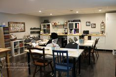 It's time that I share my craft room/studio with you. Corner Storage, Craft Room Storage, Craft Organization, Storage Spaces, Craft Rooms, Organizing, Craft Corner, Room Inspiration, Home Crafts