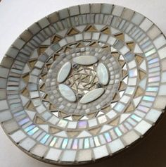 Mosaic Starter Dish with wheeled cutter:  White**