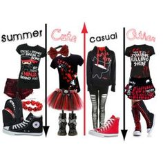 emo outfits for school - Google Search