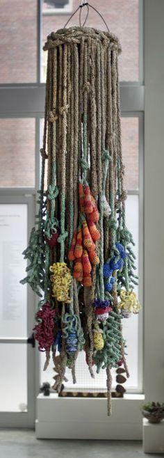 Flora Plastica – Crocheted Plastic Bags, Installation Schack Art Center, Everett, WA 2013