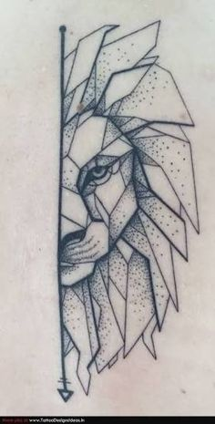 Image result for polygon line art tattoo