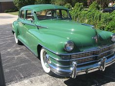 My Grandmother had one of these in black. You pushed the gas pedal all the way to the floor to engage the starter as I remember...1948 Chrysler Windsor