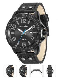 Relógio Masculino Mondaine, Analógico, Pulseira de Couro, Caixa de 5,1 cm,  Resistente à Água 3 ATM   097e10e07b